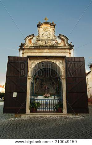 Small Chapel And Way Of The Cross Station At Vila Vicosa
