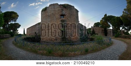 Vila Vicosa Castle Outer Walls And Surrounding Pit