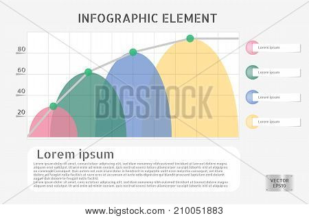 Business graph infographics and banners vector illustration. can be used for workflow layout and for modern business or web design. EPS10