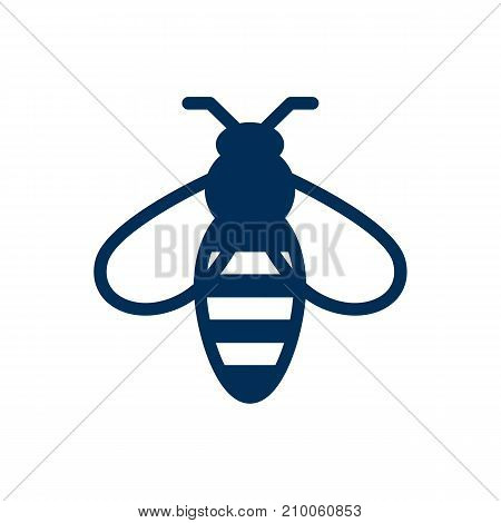 Isolated Bee Icon Symbol On Clean Background.