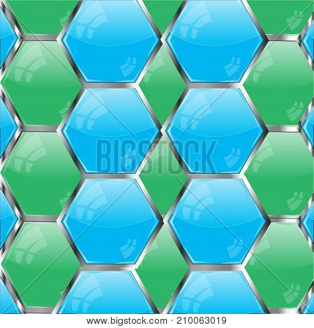 Background from buttons blue and green colour