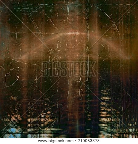 Retro background with vintage style design elements, scratched grunge texture, and different color patterns