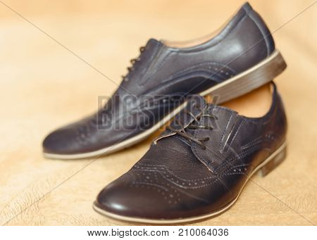 Male fashion shoes. Shallow dept of field.