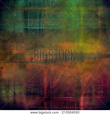 Grunge colorful texture, aged weathered background with different color patterns