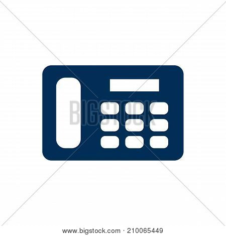 Isolated Telephone Icon Symbol On Clean Background.