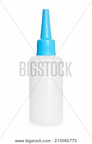 White Glue Container Isolated On A White Background