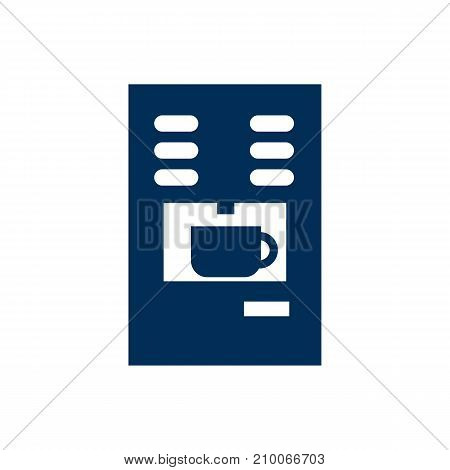 Isolated Espresso Dispenser Icon Symbol On Clean Background
