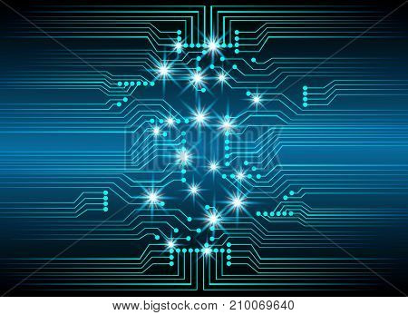 Abstract cyber hi speed digital technology cyber security concept background vector illustration.