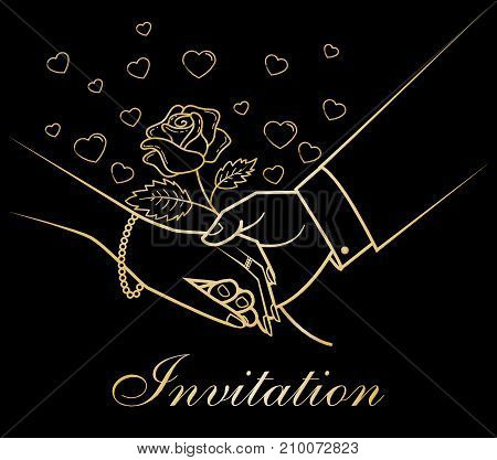 Invitation Greeting Card Hands