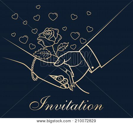 Invitation Greeting Card Hands