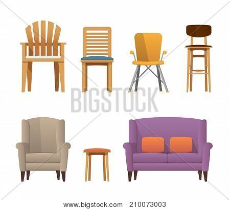 Colorful Decorative Modern Deisgn Wooden Chairs, Sofa, Bar, Seats