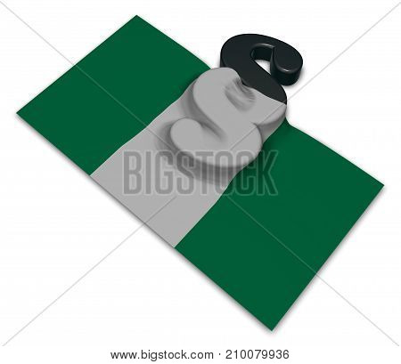flag of nigeria and paragraph symbol - 3d illustration