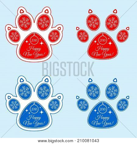 Dog Paw 2018 Of New Year