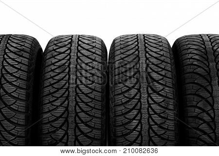 Picture Of A Black Tyres