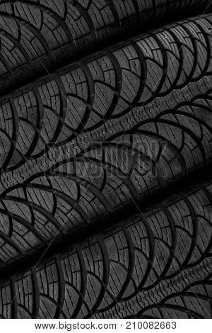 Picture Of A Protector On A Black Tyre