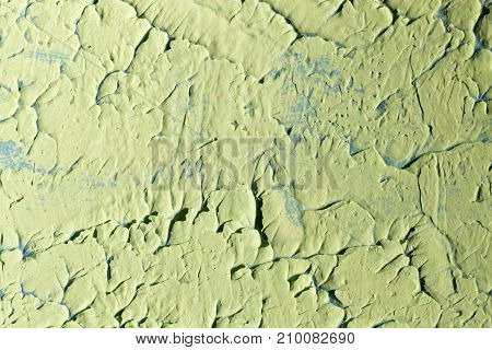 green decorative plaster as a background . Photo of an abstract texture