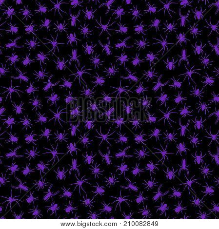 Spider halloween seamless pattern. Halloween background. Textile or wrapping paper.