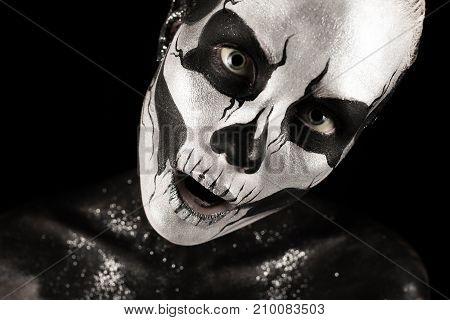 Pretty Girl With Skeleton Tattoo