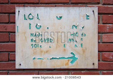 Old Worn Out Signage