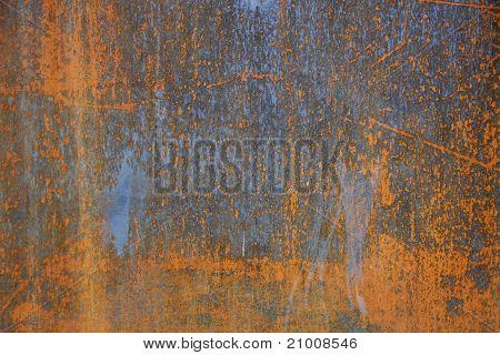 Rust on Steel Background