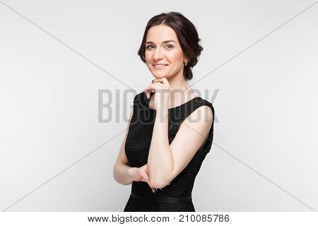 Picture Of Pretty Woman In Black Dress