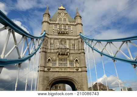 A view of the Tower bridge in London