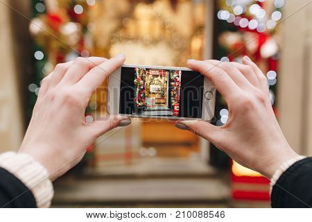 Creative Holiday Photo Of Christmas Shop