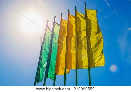 Row Of Brightly Colored Banners