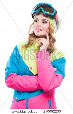 Young Woman In Ski Suit