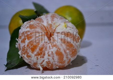 tangerine is rich in vitamin c in the wintergreen