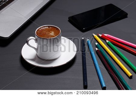 manager tools and coffee mood for creative