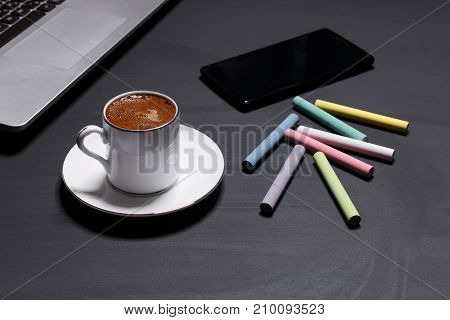 Tools for business and coffee mood for creative