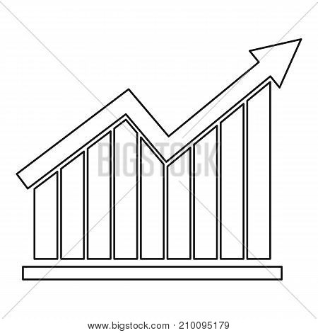 Best graph icon. Thin line illustration of graph vector icon for any web design