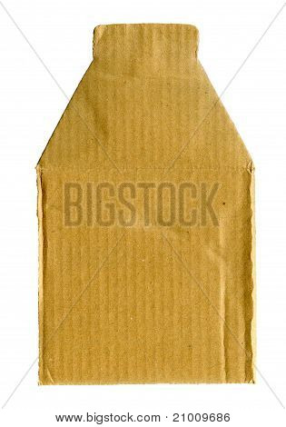 Cardboard paper label isolated on white background poster