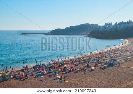 Praia dos Pescadores, Abureira, Portugal, all view.