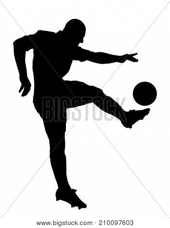 Shot of a soccer player. Isolated white background. EPS file available.