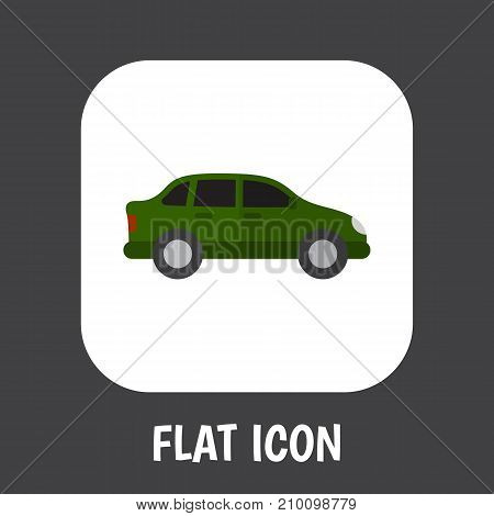 Vector Illustration Of Automobile Symbol On Car Flat Icon