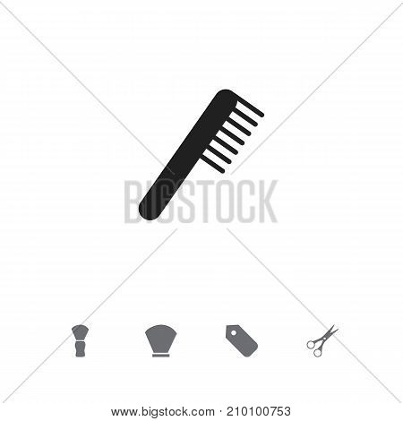 Set Of 5 Editable Hairdresser Icons. Includes Symbols Such As Shear, Comb, Label And More
