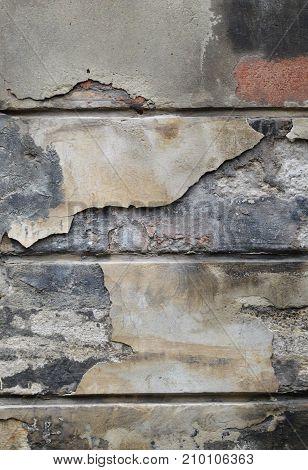 Old brick wall texture. Minimalism. Pastel pale colors.