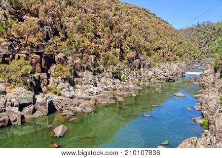 South Esk River above the First Basin in Cataract Gorge - Launceston, Tasmania, Australia