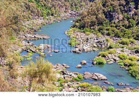 Upper section of the South Esk River in Cataract Gorge - Launceston, Tasmania, Australia