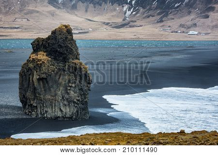Dyrholaey rock on the south coast of Iceland, Vik Iceland