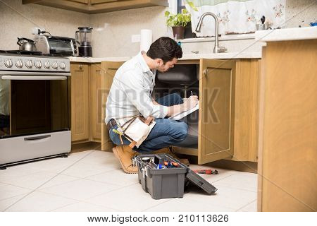 Handyman Writing A Work Estimate