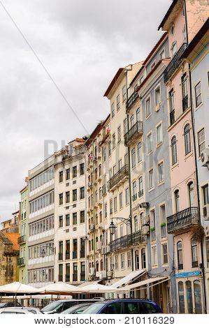 Architecture Of The Historic Center Of Coimbra, Portugal.