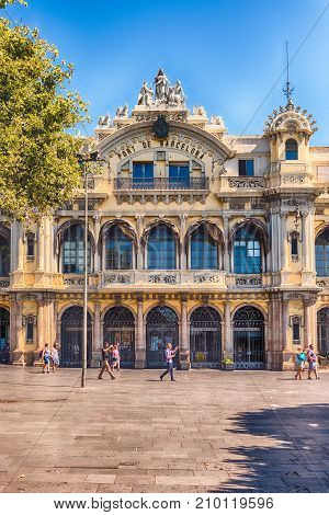 Port Authority Building In Barcelona, Catalonia, Spain