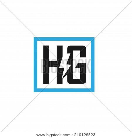 HG letter electric design vector illustration template, H letter power vector, letter H and G logo vector, creative Letter HG letter logo