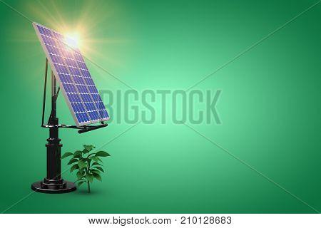 flare against green vignette