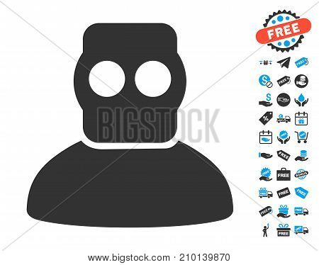 Diver Armor pictograph with free bonus images. Vector illustration style is flat iconic symbols.