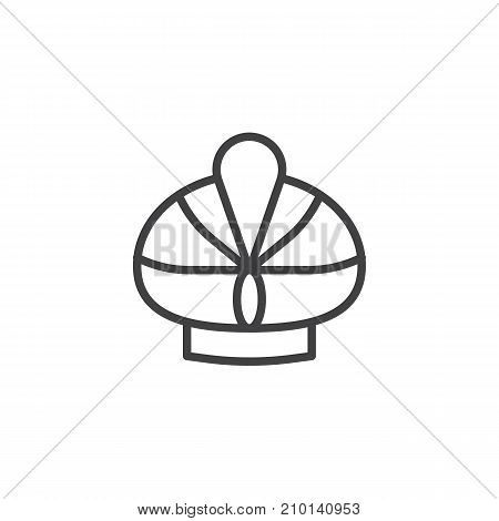 Turban hat line icon, outline vector sign, linear style pictogram isolated on white. Symbol, logo illustration. Editable stroke
