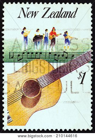 NEW ZEALAND - CIRCA 1986: A stamp printed in New Zealand from the